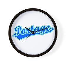 Retro Portage (Blue) Wall Clock