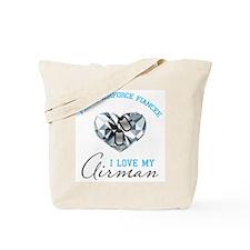 Airforce Fiancee Diamond & Do Tote Bag
