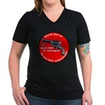 Infringement Women's V-Neck Dark T-Shirt