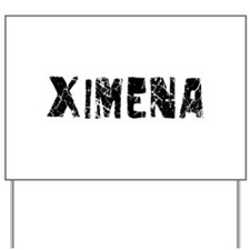 Ximena Faded (Black) Yard Sign
