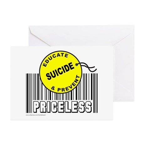 EDUCATE AND PREVENT SUICIDE Greeting Cards (Pk of