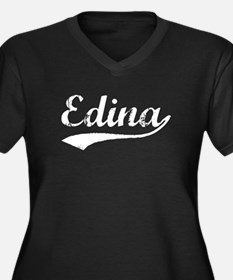 Vintage Edina (Silver) Women's Plus Size V-Neck Da