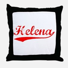 Vintage Helena (Red) Throw Pillow