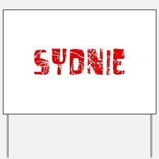 Sydnie Faded (Red) Yard Sign