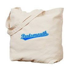 Retro Portsmouth (Blue) Tote Bag