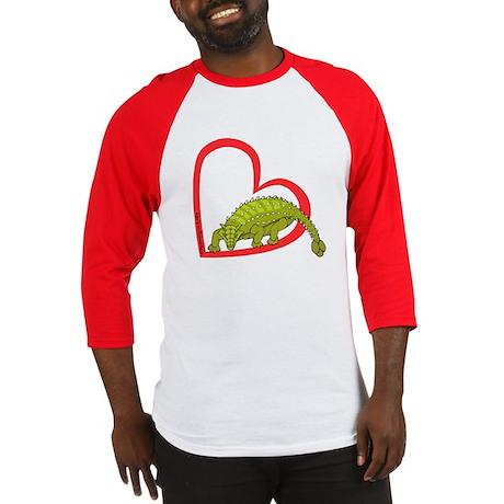 Heart Anklosaurus Baseball Jersey