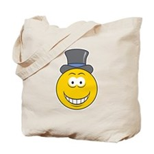 Top Hat Smiley Face Tote Bag