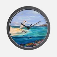 Heron and Stingray Wall Clock