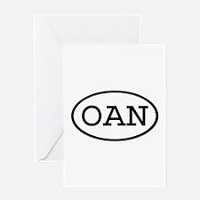 OAN Oval Greeting Card