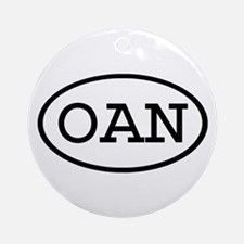 OAN Oval Ornament (Round)