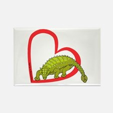 Heart Ankylosaurus Rectangle Magnet