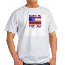 Made in the USA Ash Grey T-Shirt