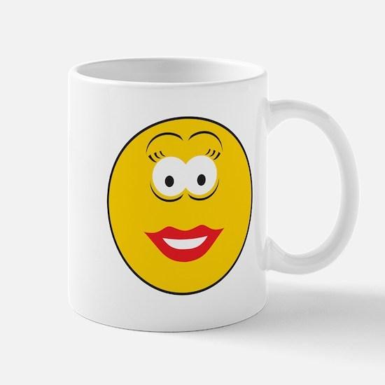 Red Lipstick Smiley Face Mug