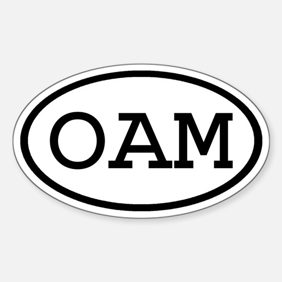 OAM Oval Oval Decal