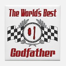 Racing Godfather Tile Coaster