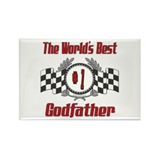 Racing Godfather Rectangle Magnet