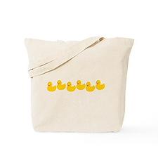 Duckies In A Row Tote Bag