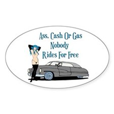 No Free Rides Lead Sled Oval Decal