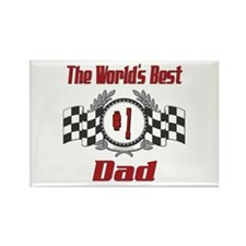 Racing Dad Rectangle Magnet