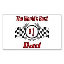 Racing Dad Rectangle Decal