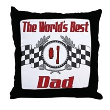 Racing Dad Throw Pillow