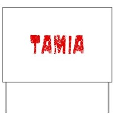 Tamia Faded (Red) Yard Sign