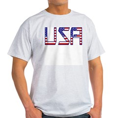 USA Letters Ash Grey T-Shirt