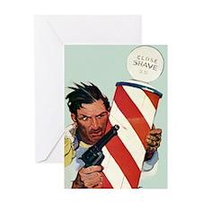 Barber Shop Shootout Greeting Card
