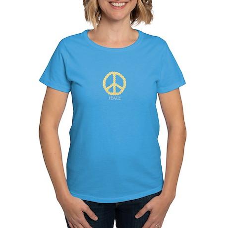 Peace Daisy Chain Women's Dark T-Shirt