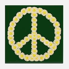 Peace Daisy Chain Tile Coaster