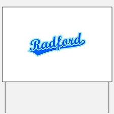Retro Radford (Blue) Yard Sign