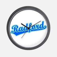 Retro Radford (Blue) Wall Clock