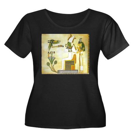 Egyptain Women's Plus Size Scoop Neck Dark T-Shirt
