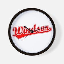 Retro Windsor (Red) Wall Clock