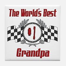 Racing Grandpa Tile Coaster