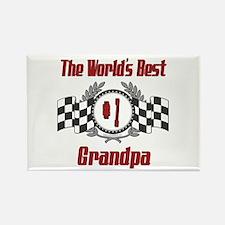 Racing Grandpa Rectangle Magnet