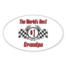 Racing Grandpa Oval Decal