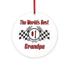 Racing Grandpa Ornament (Round)