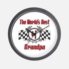 Racing Grandpa Wall Clock