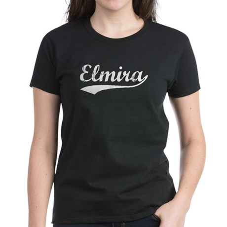 Vintage Elmira (Silver) Women's Dark T-Shirt