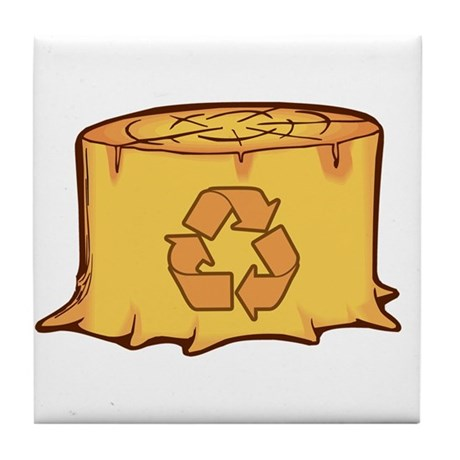 Save a Tree Recycling Tile Coaster