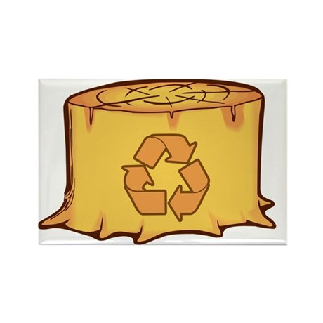 Save a Tree Recycling Rectangle Magnet (100 pack)