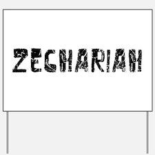 Zechariah Faded (Black) Yard Sign