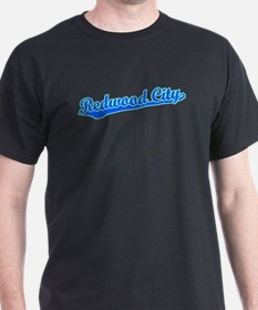 Retro Redwood City (Blue) T-Shirt