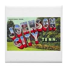 Johnson City Tennessee Tile Coaster