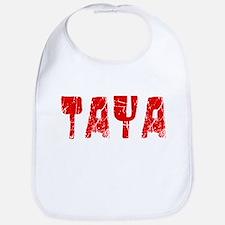 Taya Faded (Red) Bib
