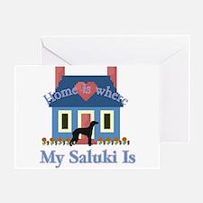 Saluki Home Is Greeting Card