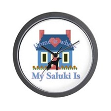 Saluki Home Is Wall Clock