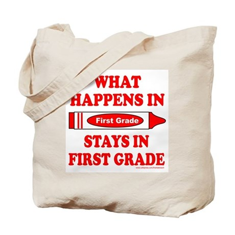 WHAT HAPPENS IN FIRST GRADE Tote Bag