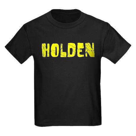 Holden Faded (Gold) Kids Dark T-Shirt